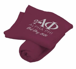 Alpha Phi Mascot Sweatshirt Blanket