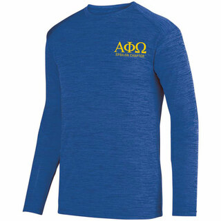 Alpha Phi Omega- $26.95 World Famous Dry Fit Tonal Long Sleeve Tee