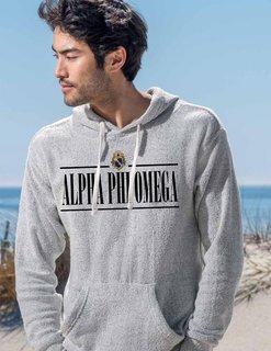 Alpha Phi Omega Line Crest Lucas Loop Fleece Hood