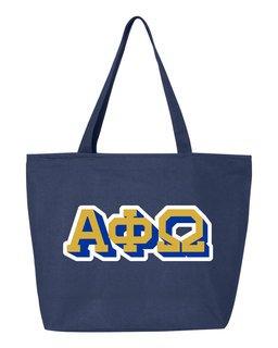 Alpha Phi Omega 3D Letter Tote Bag