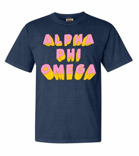 Alpha Phi Omega 3Delightful Tee - Comfort Colors