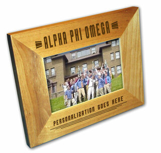 "Alpha Phi Omega 4"" x 6"" Stripes  Custom Picture Frame"