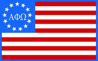 Alpha Phi Omega American Flag Sticker