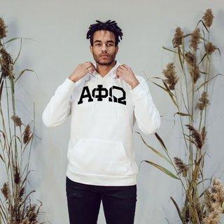 Alpha Phi Omega Arched Greek Letter Hooded Sweatshirt