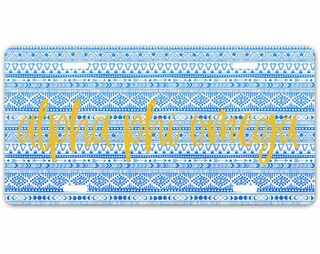Alpha Phi Omega Aztec License Plate