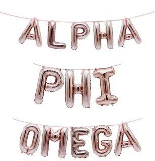 Alpha Phi Omega Banner Balloon Set