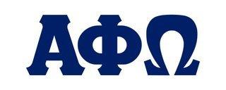 Alpha Phi Omega Big Greek Letter Window Sticker Decal
