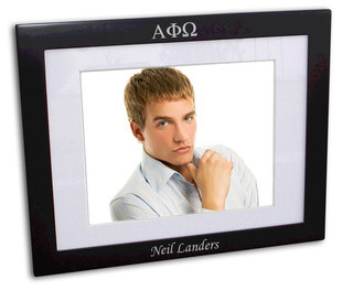 Alpha Phi Omega Black Wood Picture Frame