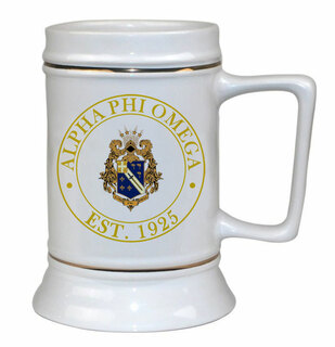 Alpha Phi Omega Ceramic Stein