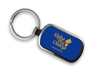 Alpha Phi Omega Chrome Mascot Key Chain