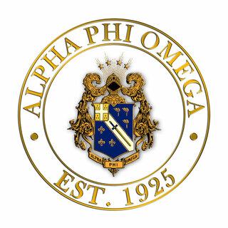 Alpha Phi Omega Circle Crest - Shield Decal