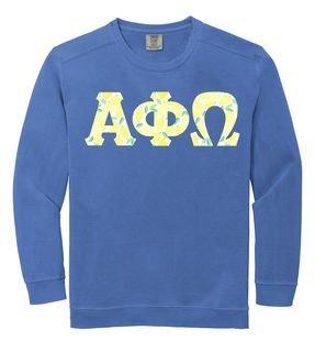 Alpha Phi Omega Comfort Colors Lettered Crewneck Sweatshirt