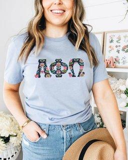 Alpha Phi Omega Comfort Colors Lettered Greek Short Sleeve T-Shirt