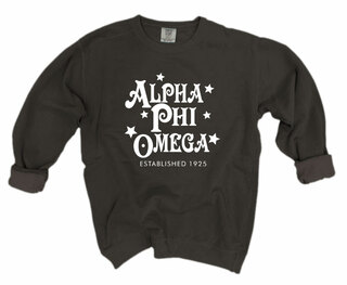 Alpha Phi Omega Comfort Colors Old School Custom Crew