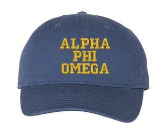Alpha Phi Omega Comfort Colors Pigment Dyed Baseball Cap