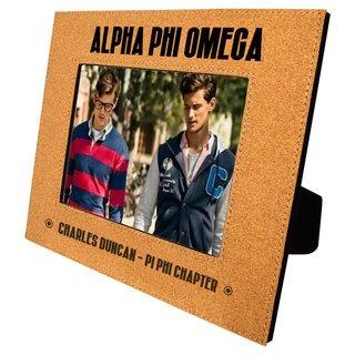 Alpha Phi Omega Cork Photo Frame