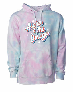 Alpha Phi Omega Cotton Candy Tie-Dyed Hoodie