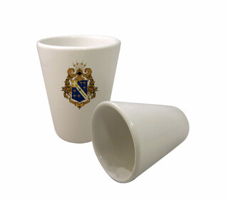 Alpha Phi Omega Crest Ceramic Collectors Glass