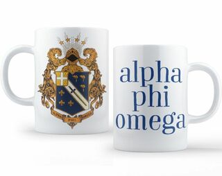 Alpha Phi Omega Crest - Shield Coffee Mug