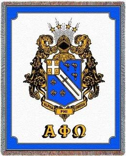 Alpha Phi Omega Crest - Shield Deluxe Afghan Blanket