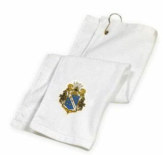 DISCOUNT-Alpha Phi Omega Crest - Shield Golf Towel