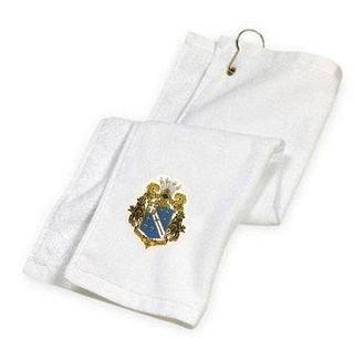 DISCOUNT-Alpha Phi Omega Crest - Shield Golf Towel