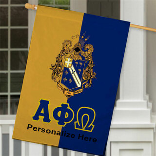 Alpha Phi Omega Crest House Flag