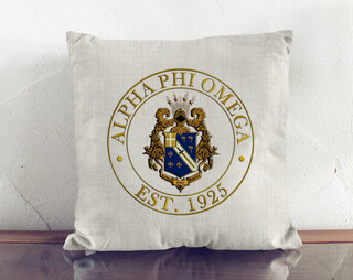 Alpha Phi Omega Crest Linen Pillow