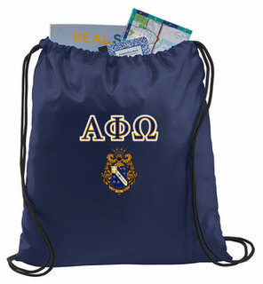 Alpha Phi Omega Crest - Shield Cinch Sack