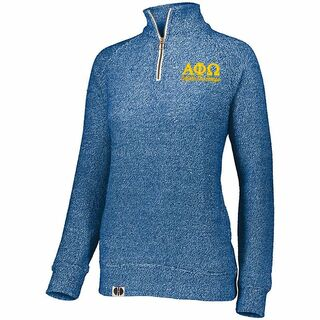 Alpha Phi Omega Cuddly 1/4 Zip Pullover