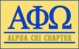 Alpha Phi Omega Custom Line Sticker Decal