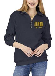 Alpha Phi Omega Established Crosswind Quarter Zip Sweatshirt