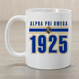 Alpha Phi Omega Established Year Coffee Mug - Personalized!