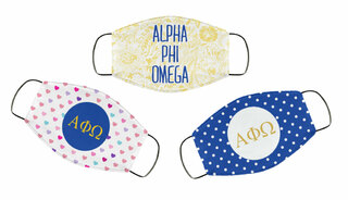 Alpha Phi Omega Face Mask Trio Set