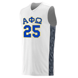Alpha Phi Omega Fast Break Game Basketball Jersey