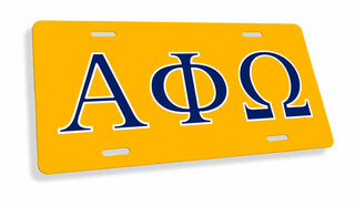 Alpha Phi Omega Flag License Cover