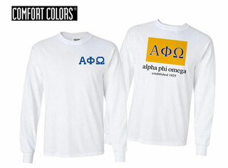 Alpha Phi Omega Flag Long Sleeve T-shirt - Comfort Colors