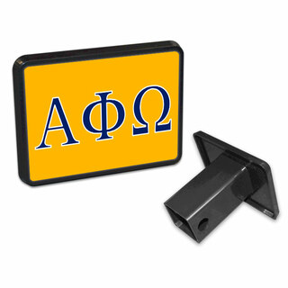 Alpha Phi Omega Flag Trailer Hitch Cover