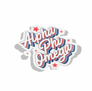 Alpha Phi Omega Flashback Decal Sticker