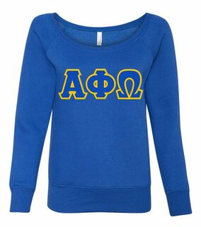 DISCOUNT-Alpha Phi Omega Fleece Wideneck Sweatshirt