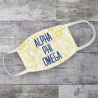 Alpha Phi Omega Floral Face Mask