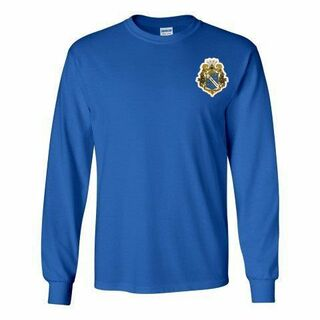 DISCOUNT-Alpha Phi Omega Fraternity Crest - Shield Longsleeve Tee