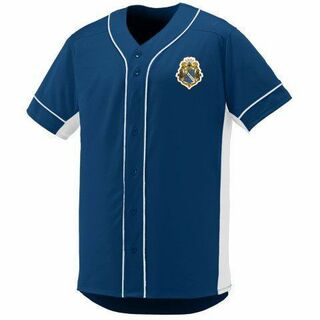 DISCOUNT-Alpha Phi Omega Fraternity Crest - Shield Slugger Baseball Jersey