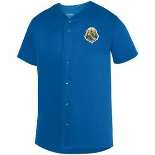 DISCOUNT-Alpha Phi Omega Fraternity Crest - Shield Sultan Baseball Jersey