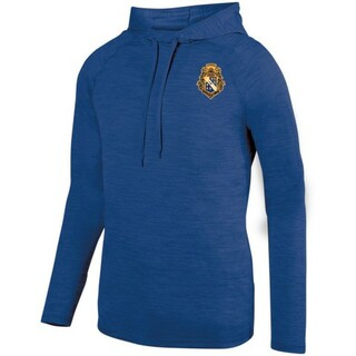DISCOUNT-Alpha Phi Omega Fraternity Crest - Shield Tonal Hoody