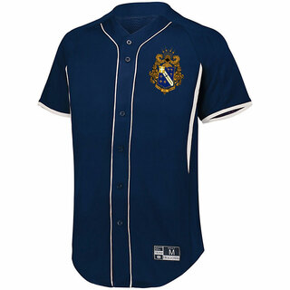 Alpha Phi Omega Game 7 Full-Button Baseball Jersey