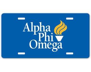 Alpha Phi Omega Logo License Plate