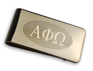Alpha Phi Omega Gold Plated Money Clips