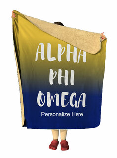 Alpha Phi Omega Gradient Sherpa Lap Blanket