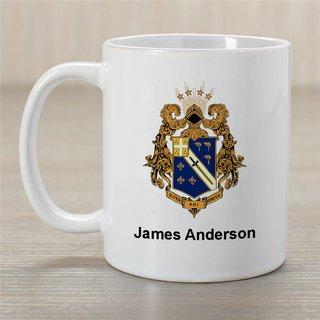 Alpha Phi Omega Greek Crest Coffee Mug - Personalized!
